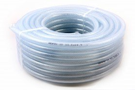 "Hilon PVC Transparent Hose 3/4"" ID X 1"" OD 20 Ft"
