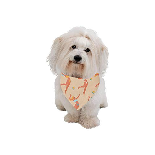 AIKENING Dog Scarf Beach Volleyball Sport Hand Drawn Printing Dog Bandana Triangle Kerchief Bibs Accessories for Large Boy Girl Dogs Cats Pets Birthday Party Gift