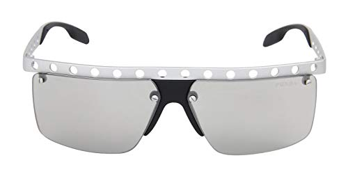 Prada Men 1503732003 Silver/Grey Sunglasses - Prada Sunglasses Silver