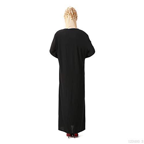 Blu Abaya rhinestone musulmano Maxi dal di delle BaronHong ricamato vestito vestito donne islamico delicato gXOx1nvq