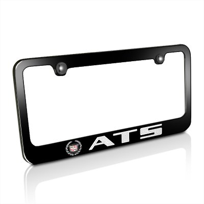 Cadillac ATS Black Metal License Plate Frame