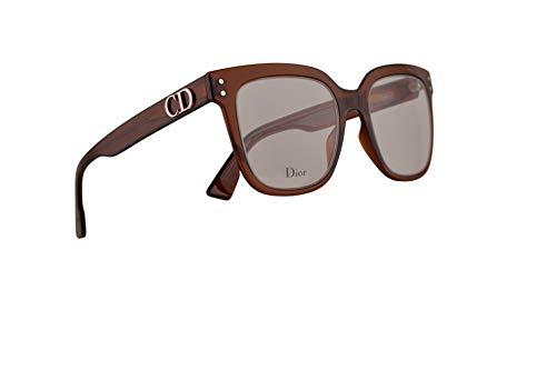 Christian Dior DiorCD1 Eyeglasses 50-20-145 Transparent Brown Cora w/Demo Clear Lens 2LF CD 1 CD1