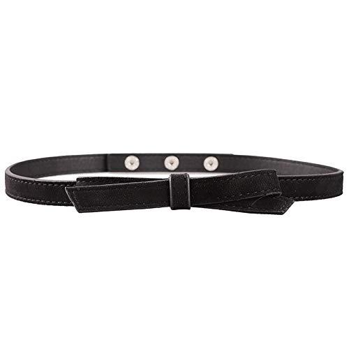 Earnda Skinny Belt Women Waistband For Dress High Waist Skirt 1/2'' Wide Thin Belt Girls Black 01 XL