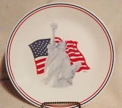 Vintage 1991 Statue of Liberty Corelle Plate by Corning 10.25