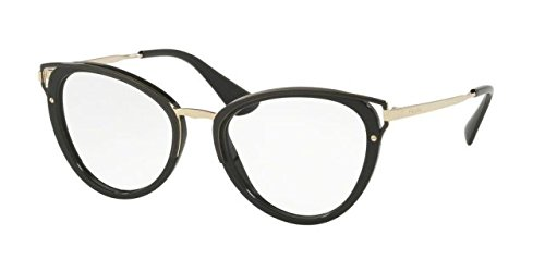 Prada Women's Wanderer Glasses, Black/Clear, One - Prada Ladies Glasses
