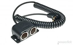Powerlet To Dual Cigarette Socket Coil Cable