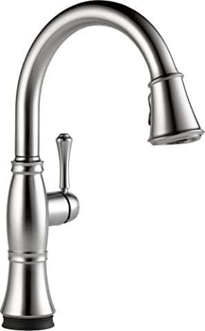 Delta Faucet 9197T-AR-DST Cassidy Single Handle Pull-Down Kitchen Faucet with Touch2O Technology and Magnetic Docking, Arctic (Pulldown Faucet Delta)