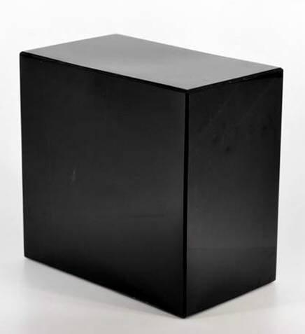 Amazon com: Khan Imports Black Marble Cremation Urn Vault