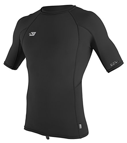 ONeill Mens Premium Skins UPF 50+ Short Sleeve Rash Guard, Black, Large