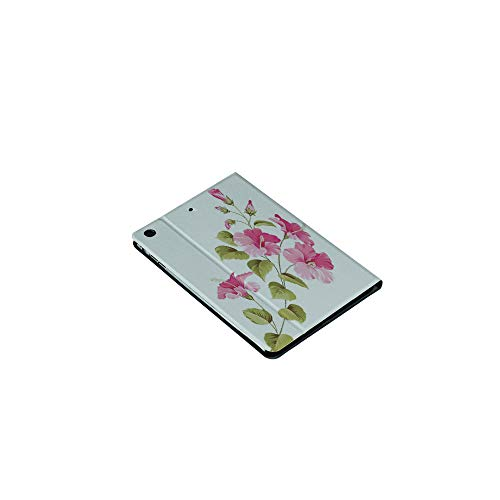 3D Printed iPad Mini1/2/3Case,Hibiscus Flower Branch with Fresh Leaves Exotic, [Auto Wake/Sleep Function] Magnetic Closure Flip Anti-Scratch Shell Compatible with Apple iPad Mini123(7.9 inch) ()