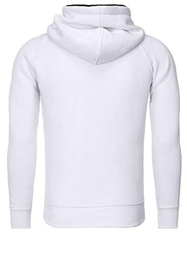 Akito Tanaka Kapuzen Sweater X-SWEAT weiß
