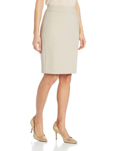 Calvin Klein Women's Straight Fit Suit Skirt, Khaki, 4 ()