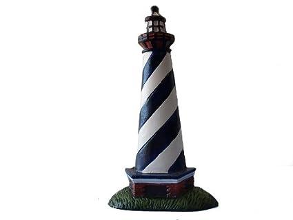 Painted Lighthouse Door Stop 10u0026quot;   Decorative Light House   Nautical  Door Stopper   Nautical