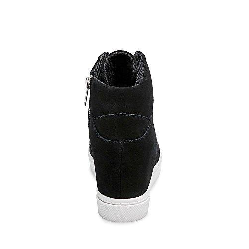 c4955c8cc24 Steve Madden Women's NOAH Sneaker, Black Suede, 6.5 M US: Amazon.com ...