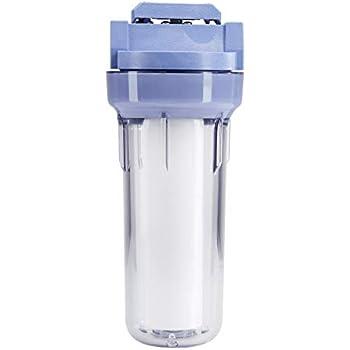 AmazonBasics Standard Duty Sump VIH Water Filter Housing - 3/4 Inch, Blue/Clear
