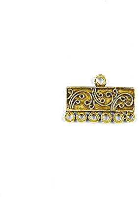 18K Gold Overlay Connector With 6 Holes CG-294-6H