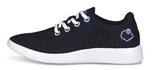 (LeMouton Classic Unisex Wool Shoes | Men Women Fashion Sneakers | Comfortable Lightweight Casual Shoe (US Women 8 / US Men 7, Black))