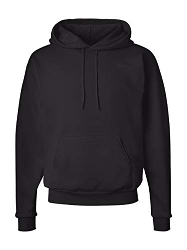 Hanes Men's Pullover EcoSmart Fleece Hoodie, Black, Large by Hanes