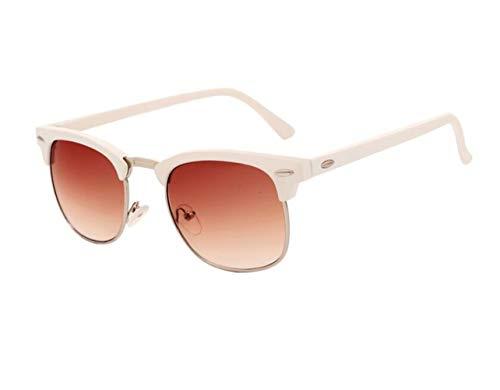 UV400 protección de Gafas de sol de de Gafas hombres las los conducción Gafas de moda White de sol de mujeres FlowerKui de diarias sol medias twTpfanwq