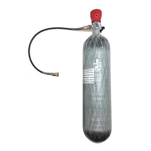 IORMAN 3L Carbon Fiber Air Tank & Fill Station CE Certified 4500psi High Pressure for PCP Paintball Scuba SCBA(Empty Bottle) ()