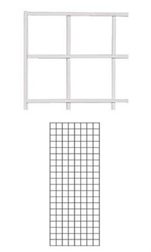 Box of 4 New Retails White Finish Wire Grid Wall Panel 2' x 5'