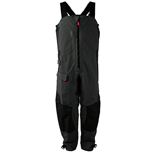 Gill Men's Waterproof Breathable Sailing OS2 Trouser Bibs, Graphite, XX-Large