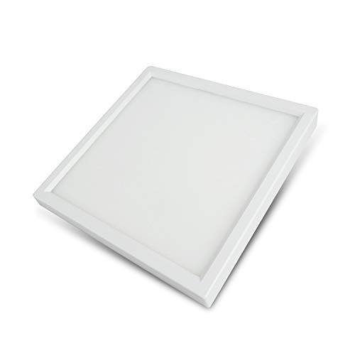 Slim Surface Mount Light Fixture, Square, 120V, 15W, 900LM, 3000K Soft White, CRI80, Driverless, Edge Lite Flush Mount Ceiling Light, ETL Certified, Damp Location, White, 1 Pack ()