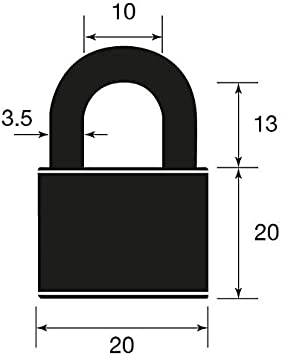 suitable for gym lockers and luggage Yale YE1//20//111//1 Brass Padlock 20mm pack of 1
