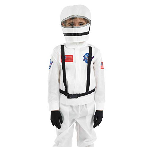Fun Shack Blanco Astronauta Disfraz para Niños - M