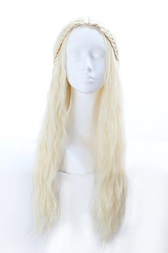 [Fengsheng A Song of Ice and Fire Daenerys Targaryen Long Hair Cosplay Wig] (Daenerys Targaryen Costume Hair)