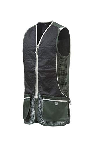 Beretta Mens Silver Pigeon Shooting Vest, Hunter Green and Jet Black, XL