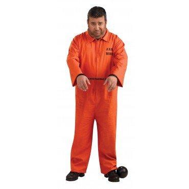 Plus Size Jail Halloween Costumes (Plus Size Orange Prisoner Jumpsuit Costume, 46 to)