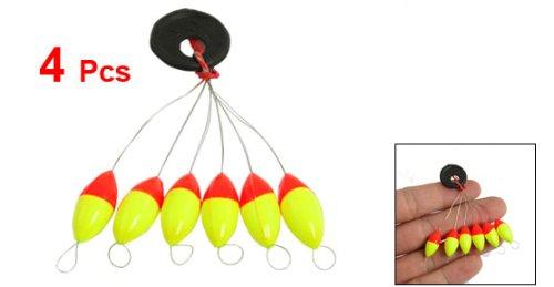 4pzs Amarillo rojo Plastico 6 en 1 Tapon boya de pesca Sz 3 TOOGOO Boya de pesca R