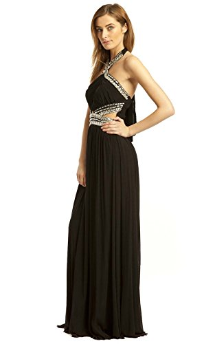Polly Womens Maxi Abend Black IKRUSH Kleid fg6qO7