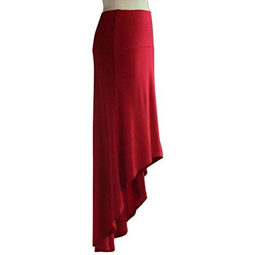 Hip Paquet d'aronde Jupe irrgulire Sexy Long Silm Femmes asymtrique Rouge Tonsee Clubwear serrs Queue wq4ZSnz