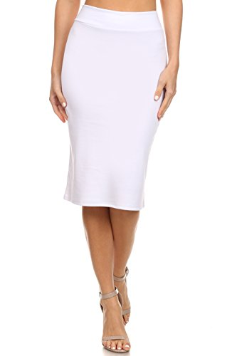 Simlu Womens Pencil Skirt for Office Wear