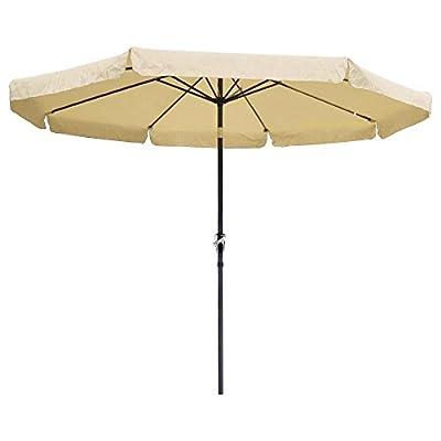 CHIMAERA 10 Ft. Tilt Outdoor Patio Umbrella Furniture Beige : Garden & Outdoor