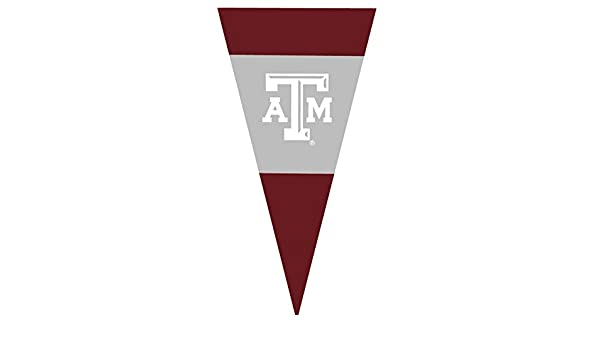 11 Inch Texas A/&M Logo Pennant Flag Decal Aggies University TX Maroon Removable Wall Sticker Art NCAA Home Room Decor 11 by 5 1//2 Inches