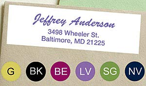 (Brush Script Scribble Sheeted Address Labels - Black)
