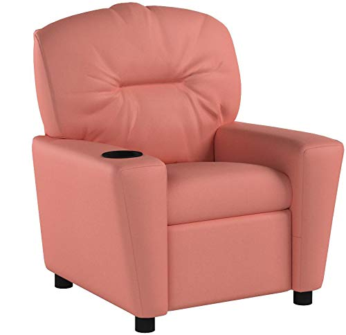 Flash Furniture ContemporaryLeathersoft Kids Recliner with Cup Holder Pink MPN: BT-7950-KID-PINK-GG by Flash Furniture