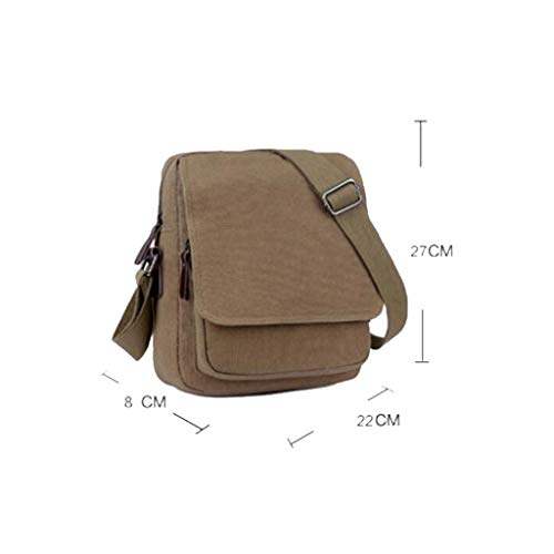 3 couleur Bag 66 Multifonction W Épaule Toile 62in H 14 Casual Size Hommes 10 Sac De Taille l Rétro 8 Messenger Green Mode Brown One H7xAw