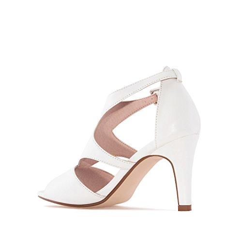 Andres Machado - Zapatos de vestir de Material Sintético para mujer blanco Weiß