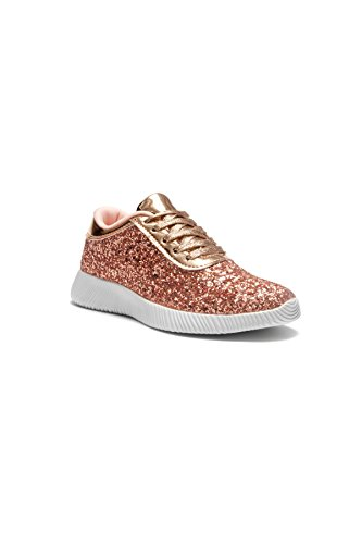 Herstyle_Kid's Let's Get Lit - Lightly Insole Sneakers Rose Gold 12