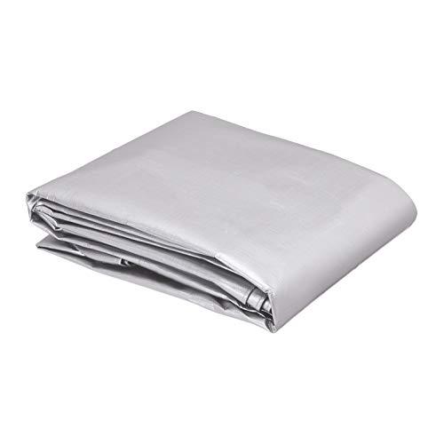 AmazonCommercial - Lona impermeable de poliéster multiusos, 3x3m, 0,4mm de espesor, plateado y negro, pack de 2unidades