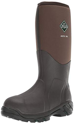 Muck Arctic Pro Tall Rubber Insulated Extreme Conditions Men's Hunting Boots, Bark, 12 M US (Best Rubber Boot Brands)