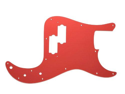 MIJ Mirror Pickguard For Fender Precision Bass Red EMC Noiseless