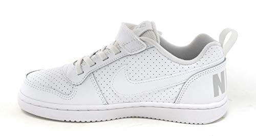 Nike Court Borough Low Ps 'White' Boys/Girls Style: 870025-100 Size: 1.5 (Nike Court Borough Girls Basketball Shoes Big Kids)
