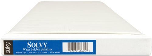 Sulky Solvy Water Soluble Stabilizer 19-3/4 Inch wide, 25 Yards by Sulky ()
