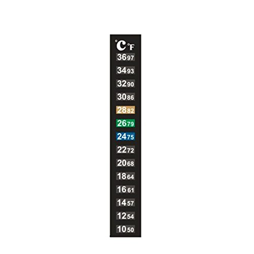 Dual Scale Thermometer Sticker, Wrewing Liquid Crystal Thermometer for Fermenter Fish Tank(pack of 5pcs)