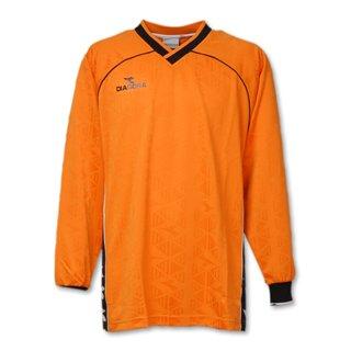 爆弾リアル警告するDIADORA ディアドラ サッカー ジャガード ゲームシャツ スポーツウェア L(172-178cm) 長袖 G2330 オレンジ 国内正規品